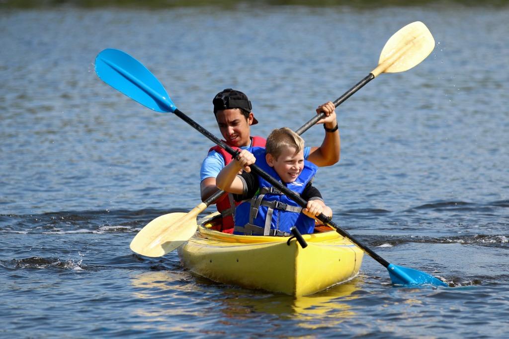 Kayaking at PEACE Camp