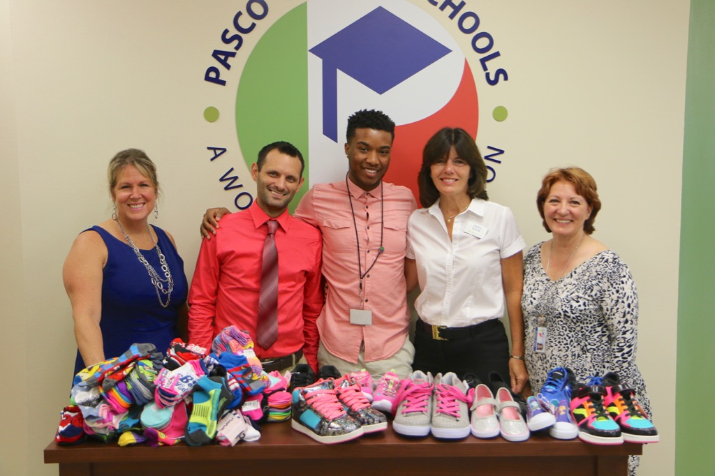 Thank you Regions Bank for collecting 105 pairs of shoes and 250 pairs of socks for our students.
