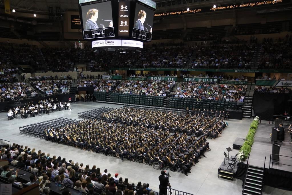 J.W. Mitchell High School graduation.