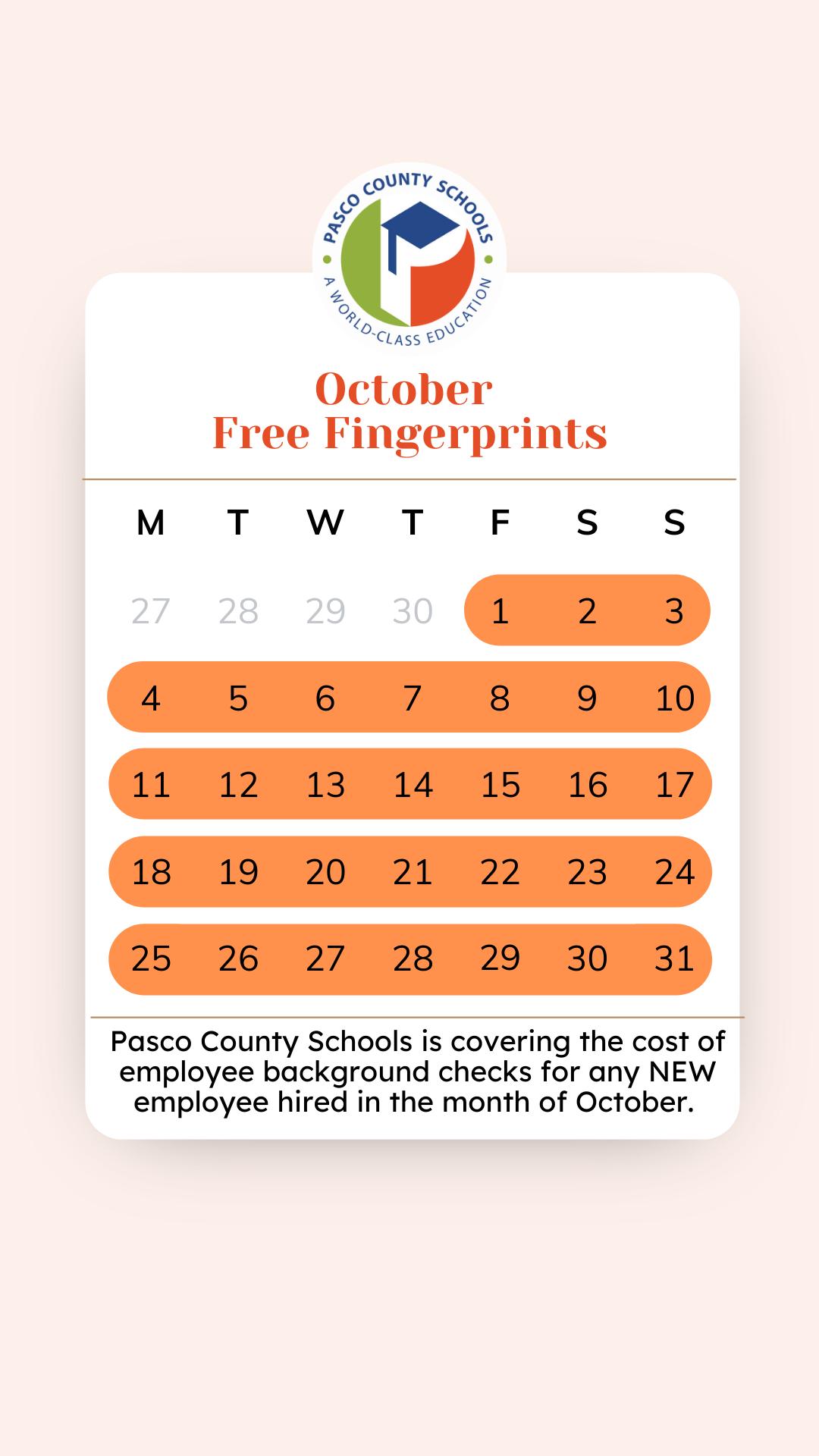 Free Fingerprints October 2021