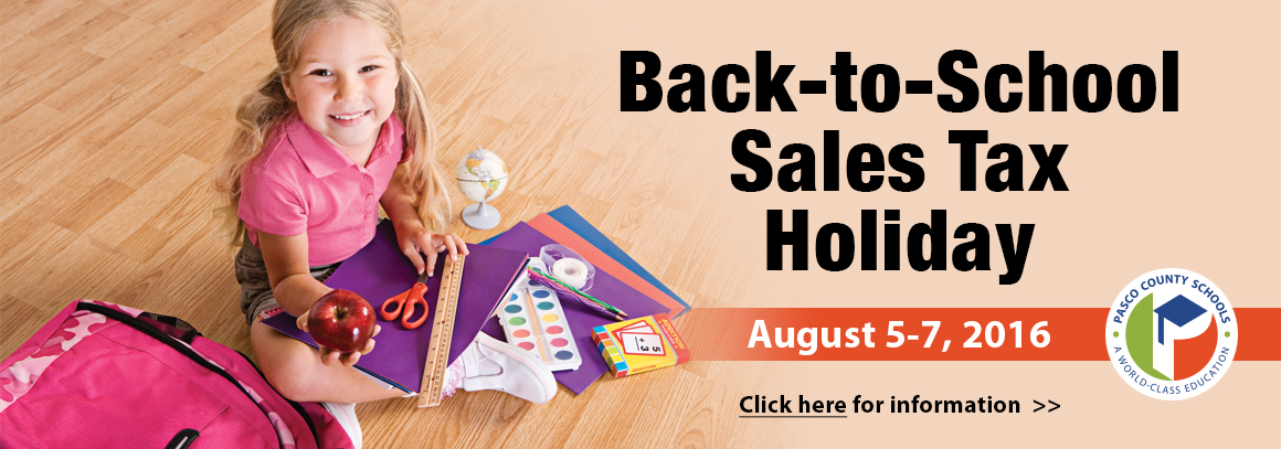 <p> 	August 5-7, 2016. &nbsp;Click to visit the Department of Education&#39;s Sales Tax Holiday page.</p>