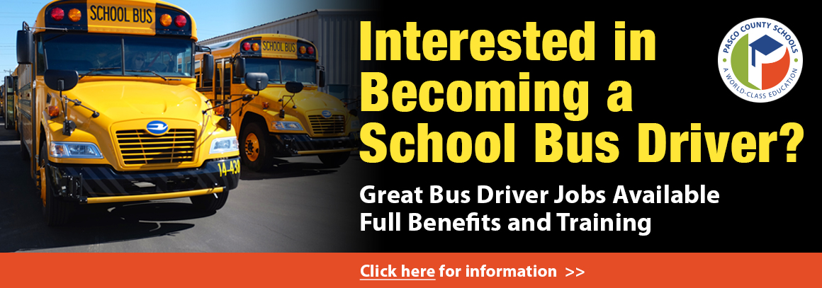 <p> 	Bus drivers wanted! &nbsp;Click here for more info.</p>
