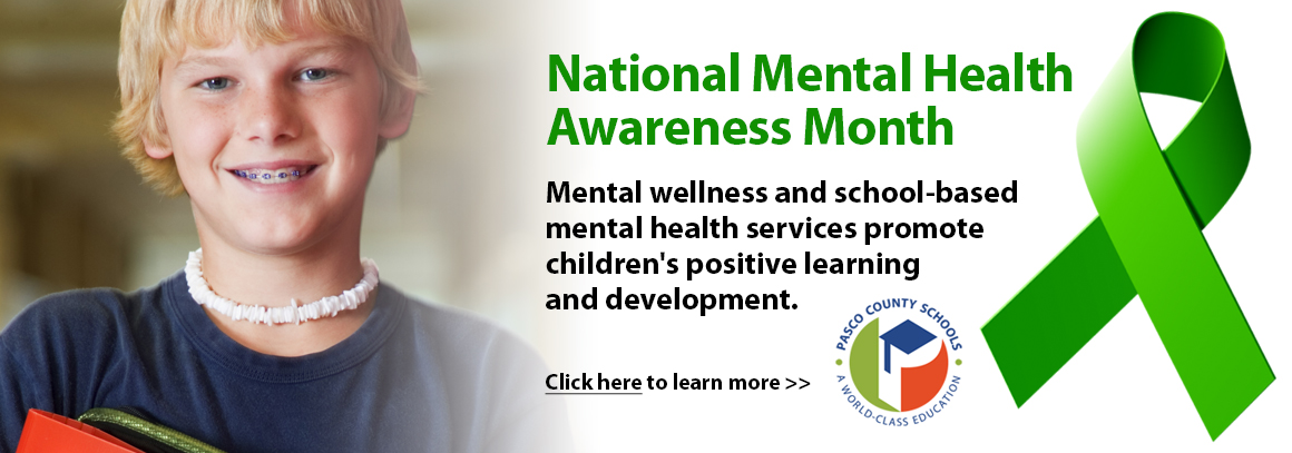 <p> 	May is National Mental Health Awareness Month.&nbsp; Tap for more information...</p>