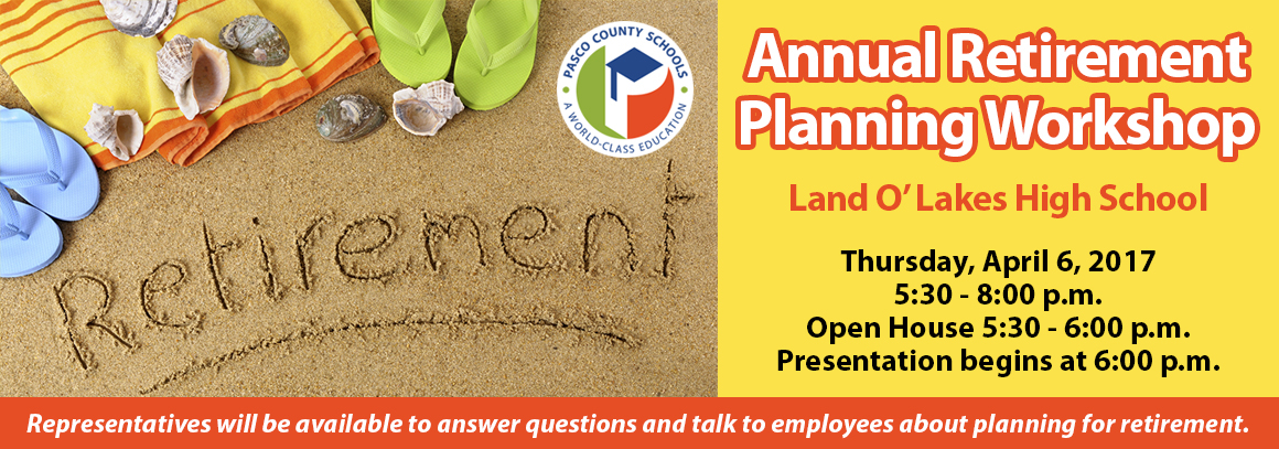 <p> 	Tap for information abut the Annual Retirement Planning Workshop!</p>