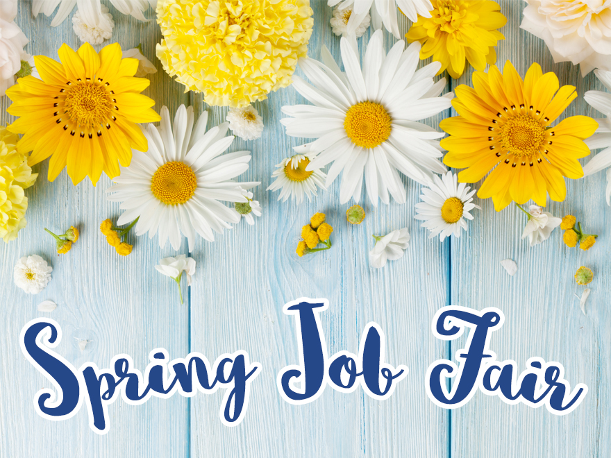 <p> 	Spring Job Fair for Teachers and Student Services - Tap for more information.</p>