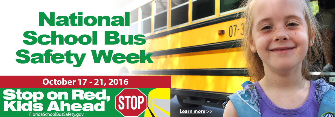 <p> Oct 17-21 is National School Bus Safety Week. &nbsp;Learn more!</p>