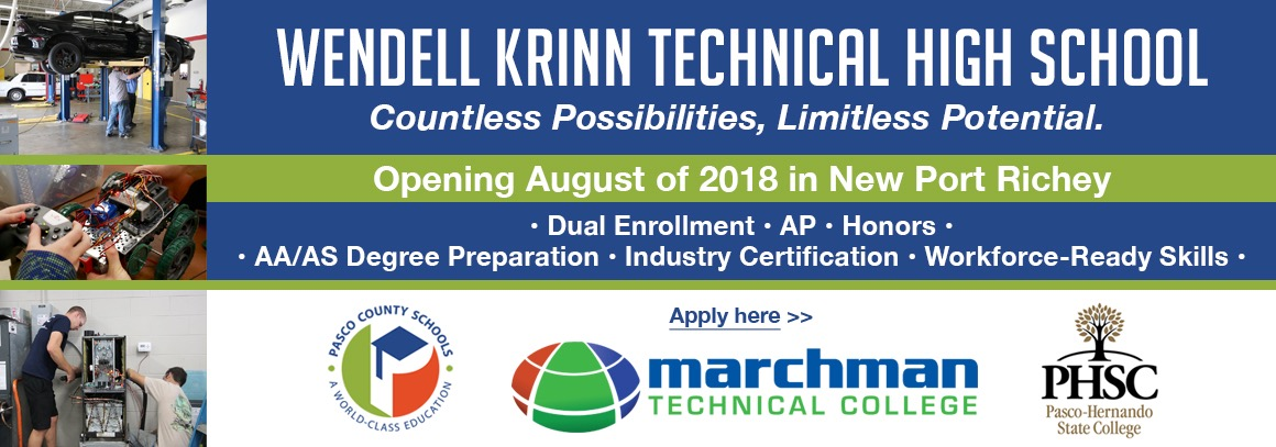 <p> Wendell Krinn Technical High School - Tap now to apply!</p>