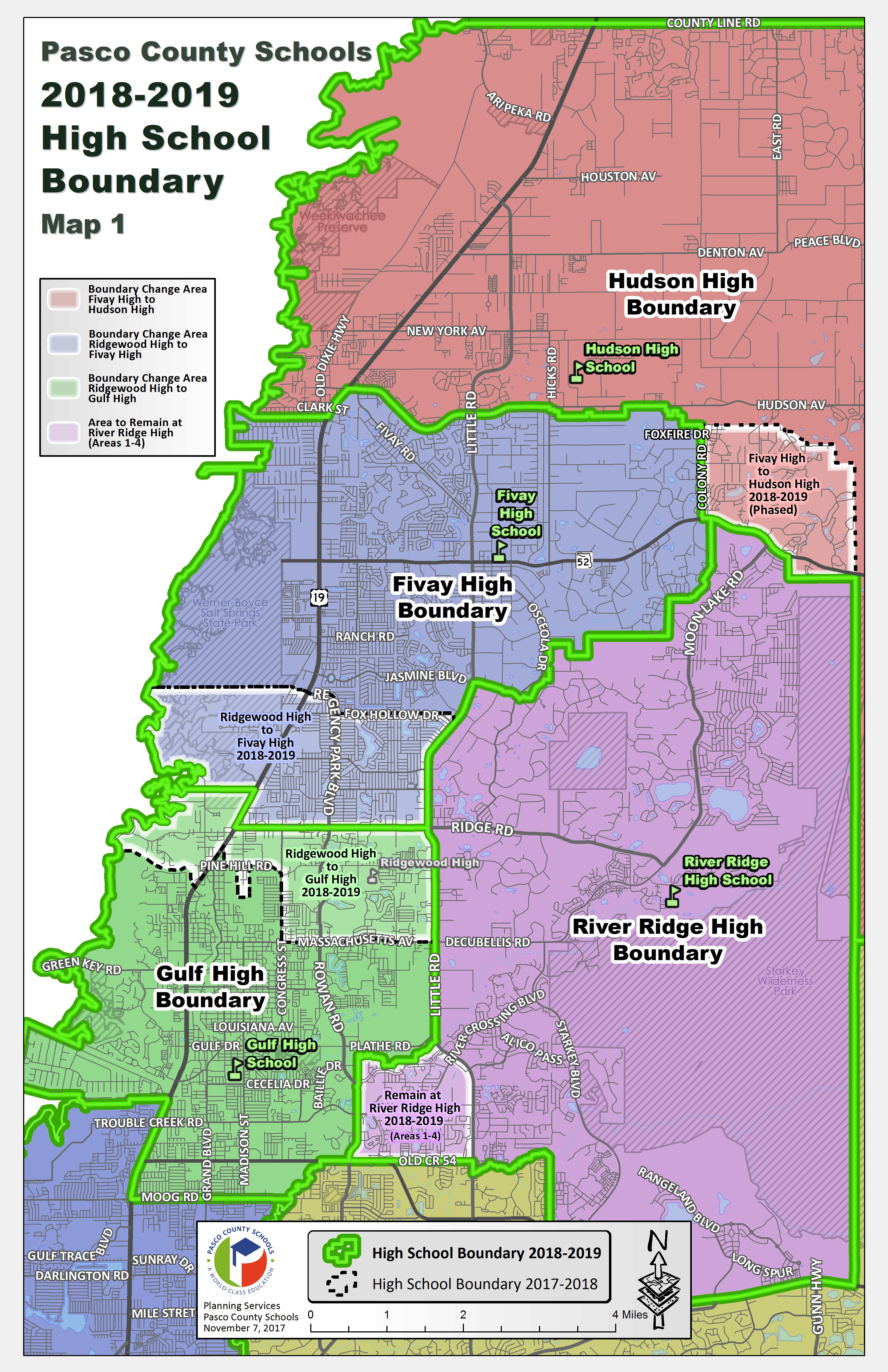 Pasco County Schools - 1819 map of us